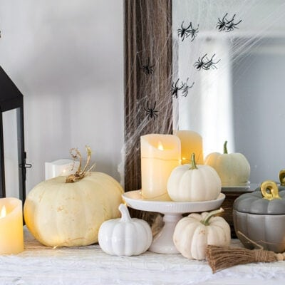 White Pumpkin Halloween Decor