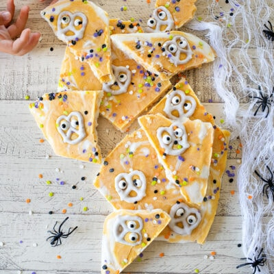 Pumpkin Yogurt Boo Bark