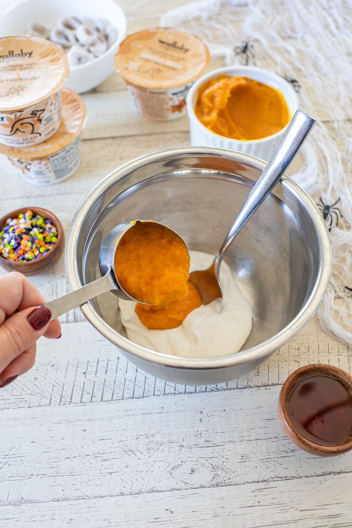 Pumpkin Yogurt Boo Bark