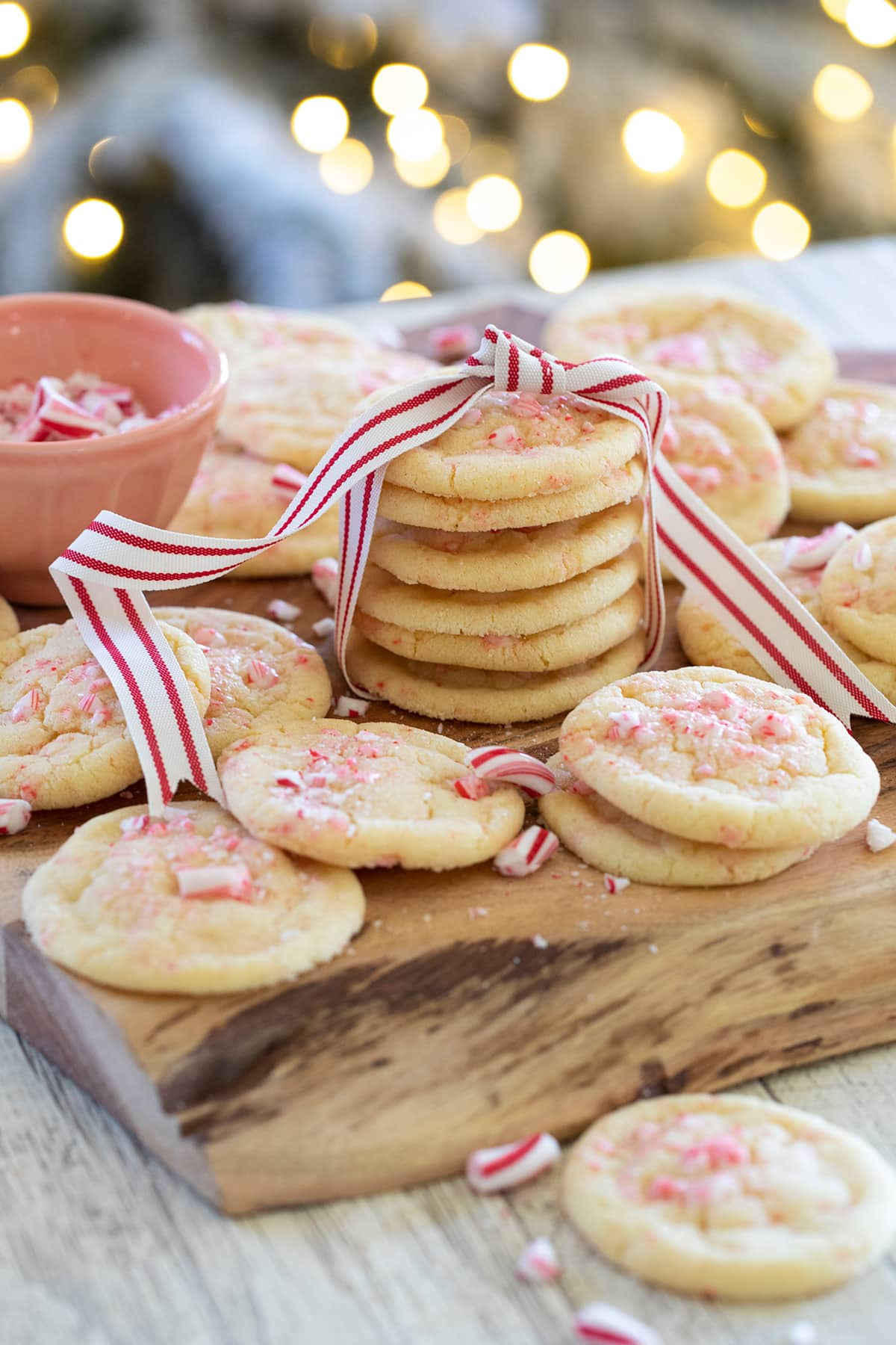 Peppermint Sugar Cookies