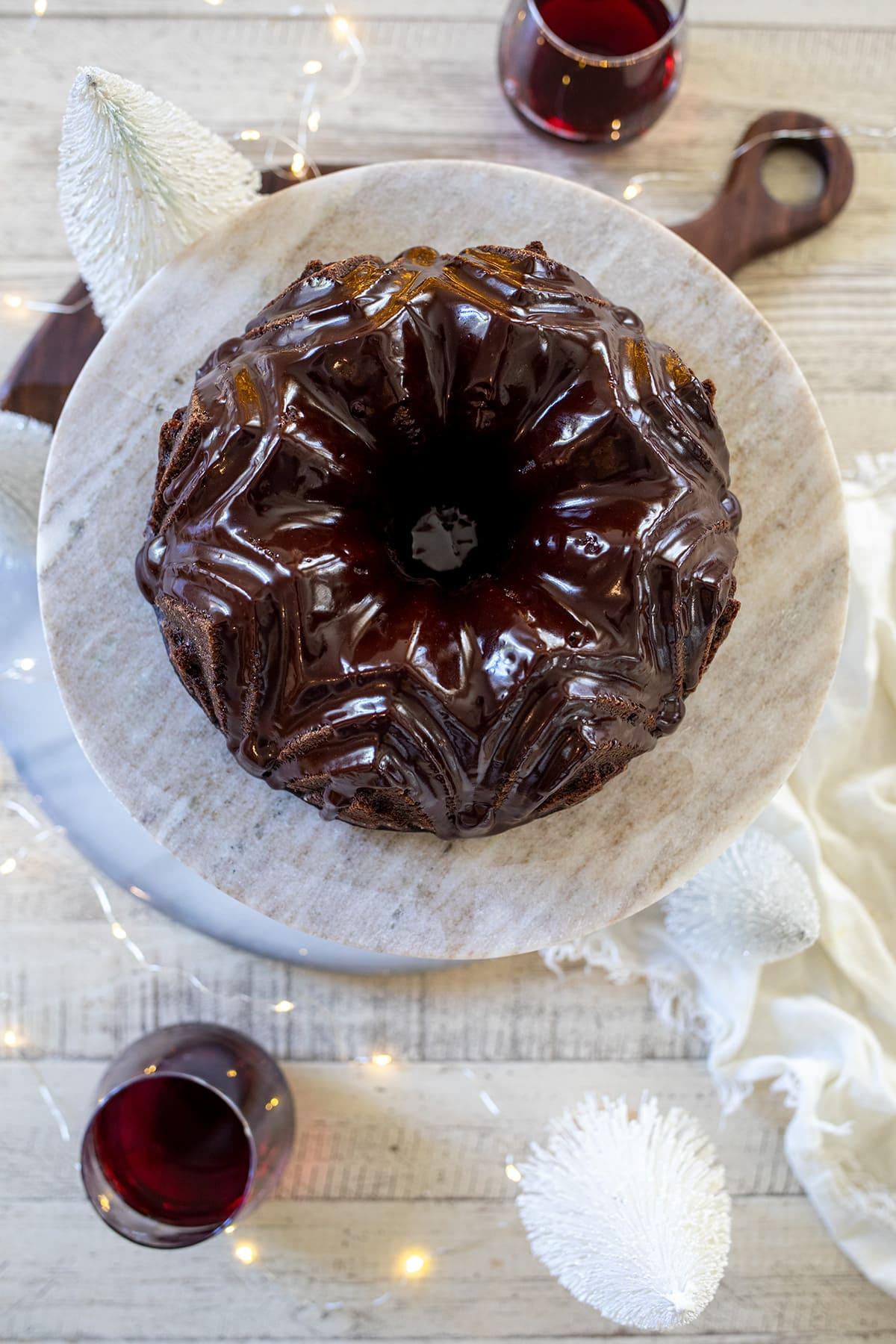 Pinot Noir Chocolate Cake
