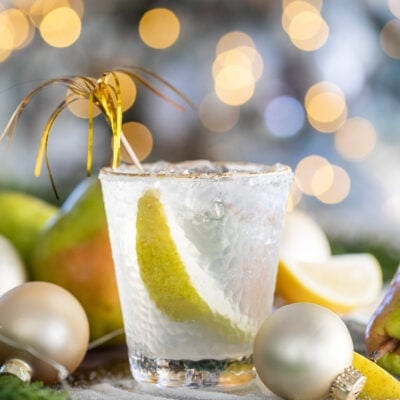 Sparkling Pear French 75 Cocktail