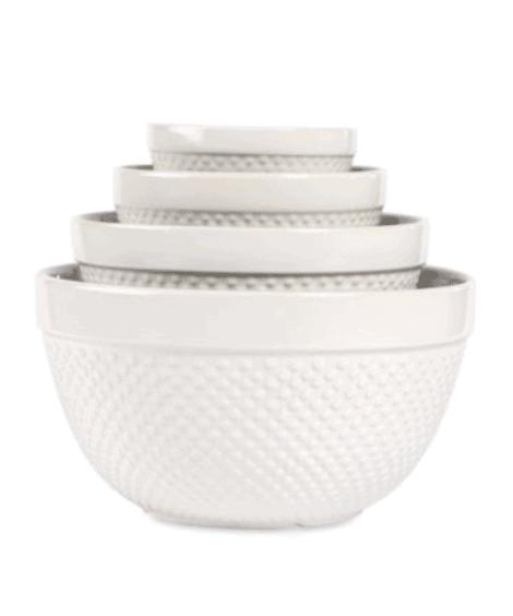 Hobnail White 4-Piece Mixing Bowl Set   Bed Bath & Beyond