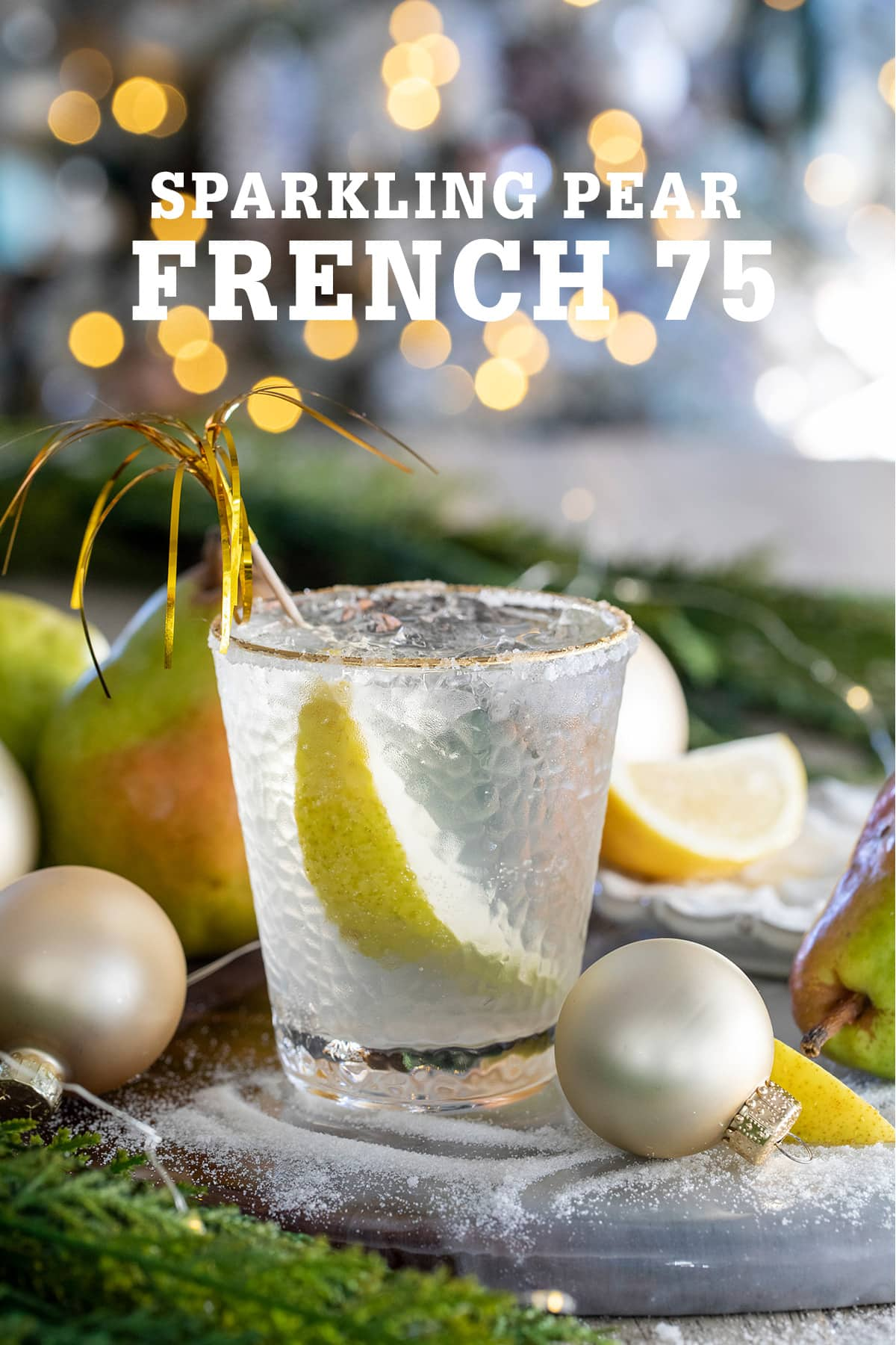 Pear French 75 Cocktail