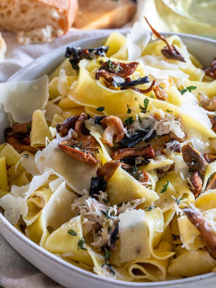Wild Mushroom and Crab Pappardelle Pasta Pa