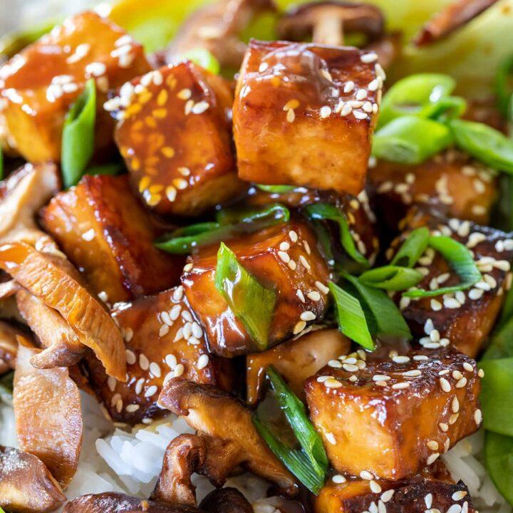 Orange Tofu Bowls