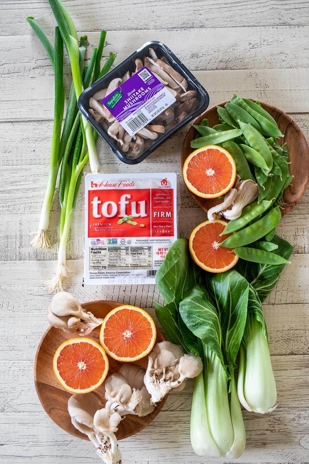 Orange Tofu Bowls Ingredients