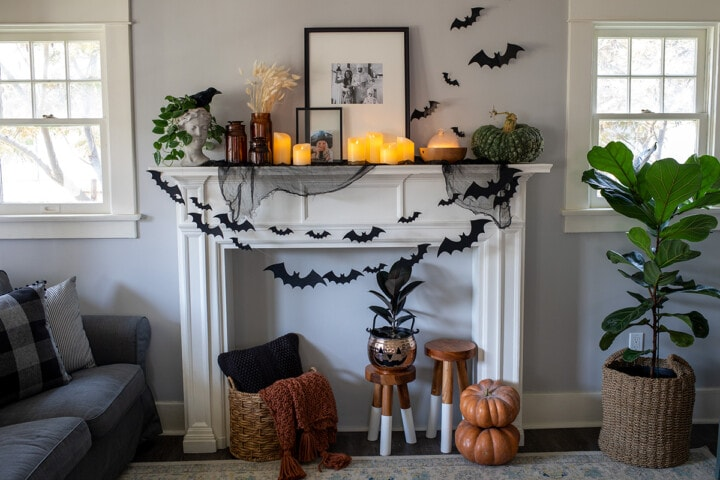 Halloween Mantle Decor